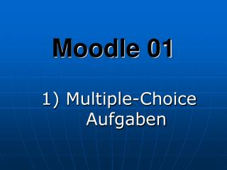 Moodle 01