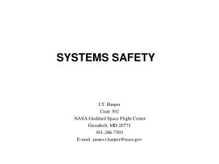 SYSTEMS SAFETY