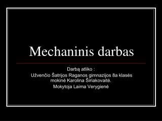 Mechaninis darbas