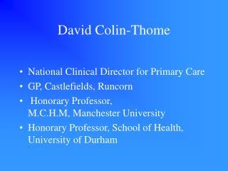 David Colin-Thome
