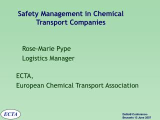 Safety Management in Chemical Transport Companies