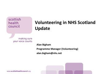 Volunteering in NHS Scotland Update