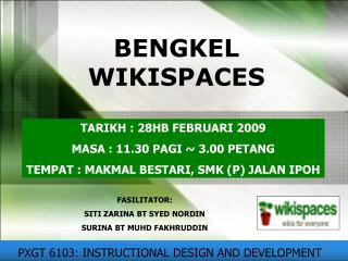 BENGKEL WIKISPACES