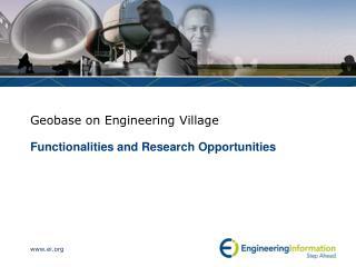 Geobase on Engineering Village