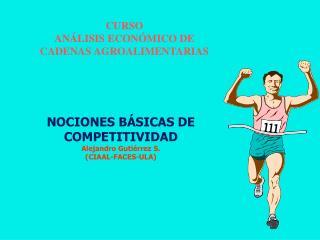 NOCIONES BÁSICAS DE COMPETITIVIDAD Alejandro Gutiérrez S.  (CIAAL-FACES-ULA)