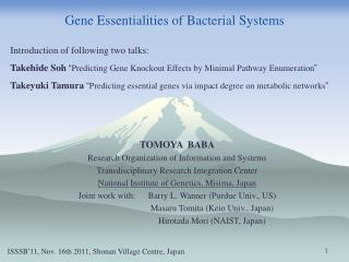 Gene Essentialities of Bacterial Systems