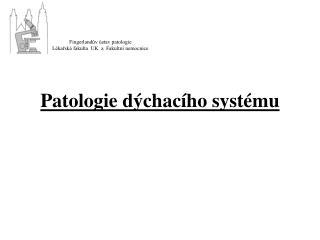 Patologie dýchacího systému