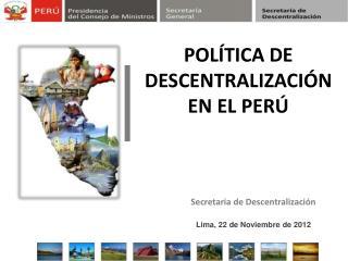 Secretaria de Descentralización