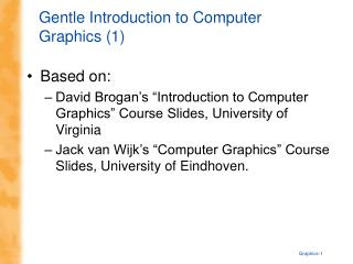Gentle Introduction to Computer Graphics (1)