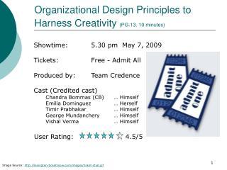 Organizational Design Principles to Harness Creativity  (PG-13, 10 minutes)