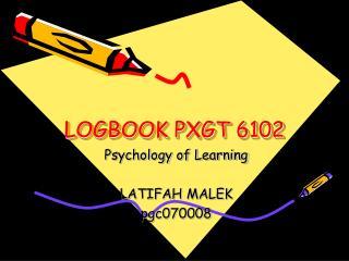 LOGBOOK PXGT 6102