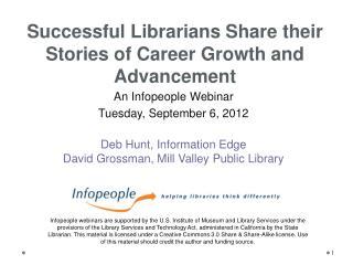 An Infopeople Webinar  Tuesday, September 6, 2012