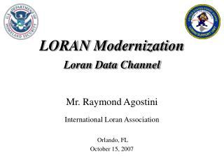 LORAN Modernization Loran Data Channel