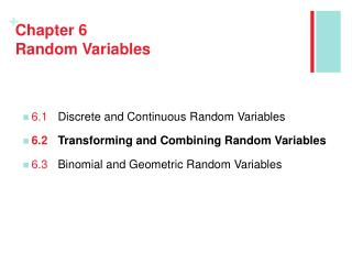 Chapter 6 Random Variables