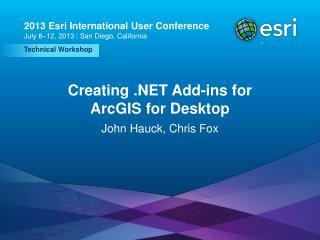 Creating .NET Add-ins for ArcGIS for Desktop