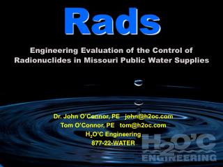 Rads Engineering Evaluation of the Control of Radionuclides in Missouri Public Water Supplies