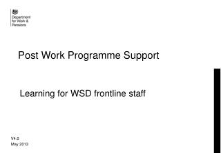 Post Work Programme Support