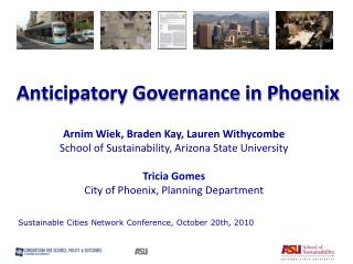 Anticipatory Governance in Phoenix
