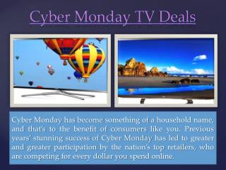 Cyber Monday Tv Deals 2014