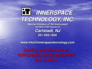 Leading manufacturer of hydrographic survey equipment and systems