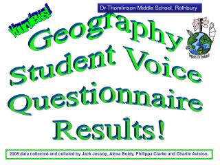Geography  Student Voice  Questionnaire  Results