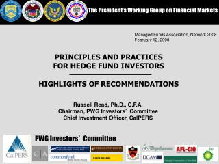 The President's Working Group on Financial Markets