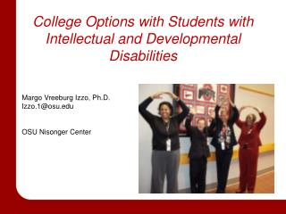College Options with Students with Intellectual and Developmental Disabilities