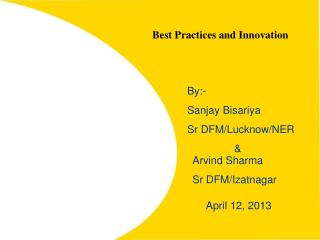 Best Practices and Innovation