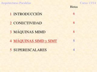 Arquitecturas ParalelasCurso 13/14