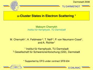 a -Cluster States in Electron Scattering *