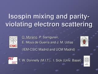 Isospin mixing and parity-violating electron scattering