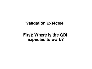 Validation Exercise