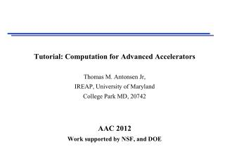 Computation has become integral to Accelerator Science