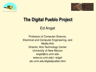The Digital Pueblo Project