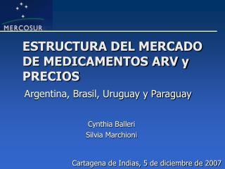 ESTRUCTURA DEL MERCADO DE MEDICAMENTOS ARV y PRECIOS