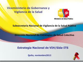Estrategia Nacional de VIH/Sida-ITS
