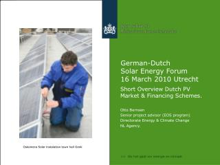 German-Dutch  Solar Energy Forum  16 March 2010 Utrecht
