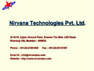 Nirvana Technologies Pvt. Ltd .