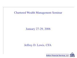 Bolton Financial Services, LLC