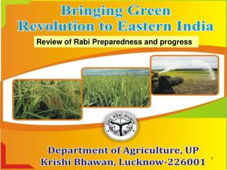 Review of Rabi Preparedness and progress