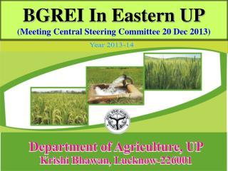BGREI In Eastern UP (Meeting Central Steering Committee 20 Dec 2013)