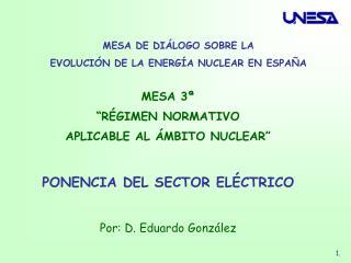 MESA DE DIÁLOGO SOBRE LA  EVOLUCIÓN DE LA ENERGÍA NUCLEAR EN ESPAÑA