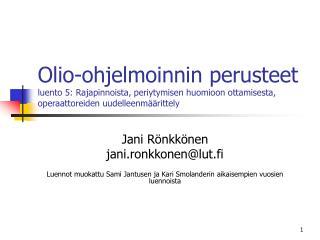 Jani Rönkkönen jani.ronkkonen@lut.fi