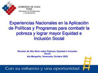 Reunión de Alto Nivel sobre Pobreza, Equidad e Inclusión Social