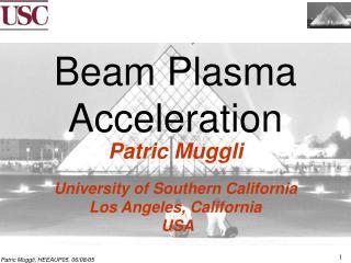 Beam Plasma Acceleration