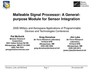 Malleable Signal Processor: A General-purpose Module for Sensor Integration