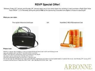 RSVP Special Offer!