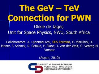 The GeV – TeV Connection for PWN