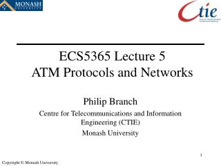ECS5365 Lecture 5 ATM Protocols and Networks