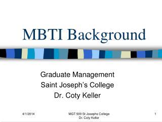 MBTI Background